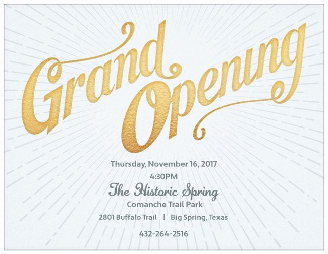 Spring Grand Opening Invitation