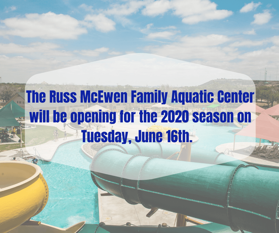 The Russ McEwen Family Aquatic Center will be opening for the 2020 season on Tuesday, June 16th. (1)