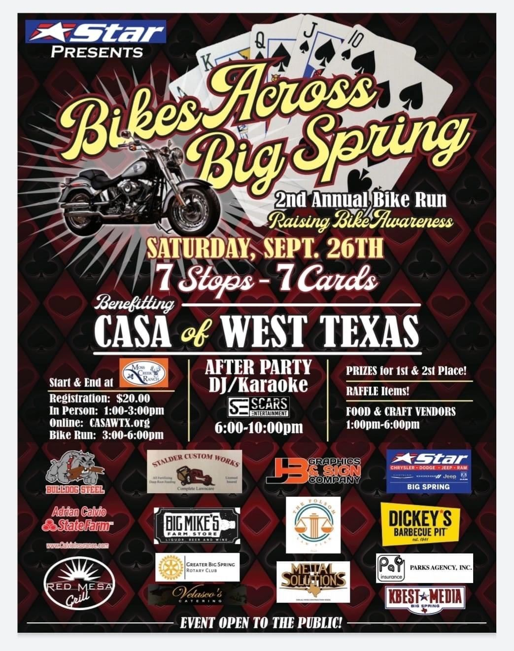 2nd Annual Bikes Across Big Spring