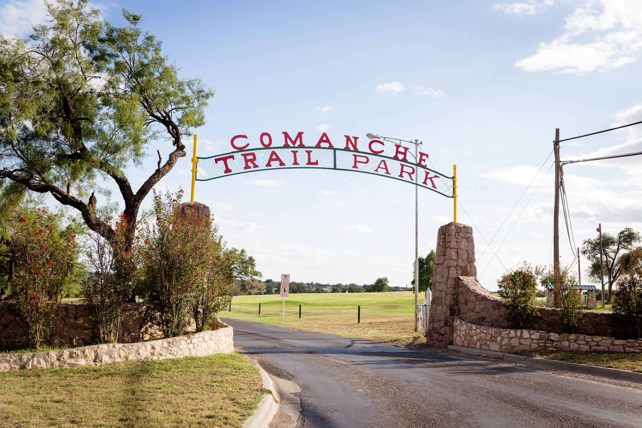 Comanche Trail Park Main Entrance